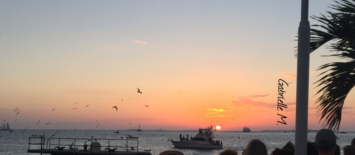 Sunset at Mallory Square, Key West, FL